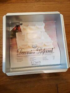 Wilton Decorator Preferred Pure Aluminium Wedding Party Cake Baking Pan 20x5cm
