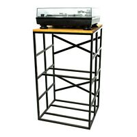 Turntable Stand With Vinyl Records Storage Rack Industrial Vinyl MADE IN EUROPE!