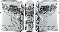 New Zippo Oil lighter Harley Davidson HDP-26 Limited Edition Silver Plated