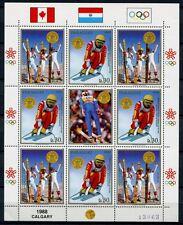 Paraguay 1988 Olympiade Olympics Calgary Skisport 4265-4266 Kleinbogen MNH