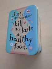 Shoebox Just a little something to kill the taste of healthy food Hallmark Tin