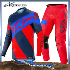 COMPLETO CROSS ENDURO ALPINESTARS RACER TECH ATOMIC 2019 DARK RED NAVY GRE 36-XL