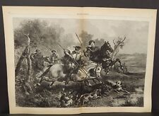 Harper's Weekly Dbl A Wild Boar Hunt In Olden Time  1874 A11#78