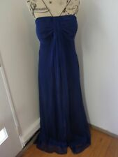 City Chic Blue Satin Lined Evening Wedding Dress Plus Size S 16 18