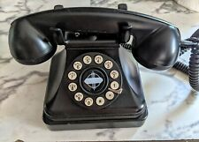 Vintage -CROSLEY Telephone Classic Model CR 62 Black Rotary Dial Style 1930's