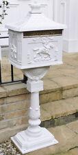 Boîte Livraison sur Support Aluminium Blanc Décorative Courrier Boite