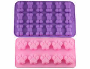 6/10/16/18 Cavity Dog Bone / Paw Silicone Chocolate Mould Baking Jelly Ice Cube