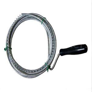 3m Long Flexible Spring Drain Cleaner Rod Unblocker Waste Pipe Sink Toilet Tool