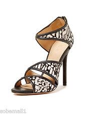 L.A.M.B. Waren Printed Calf Hair Open Toe Strappy Heel Sandal Size 8