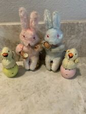 Vintage Wind Up Toys Easter Bunny Chick In Egg Working Lot Of 4 Japan