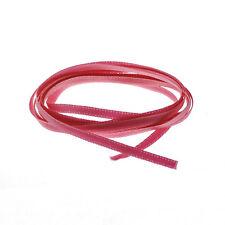 Dark Pink 3mm Double Sided Satin Ribbon 1 Metre Length (C27/14)