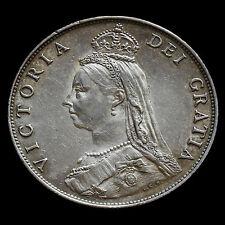 1887 Queen Victoria Jubilee Head Silver Florin – EF