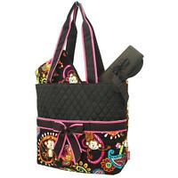 Personalized Monkey Quilted 3Pcs Set Diaper Bag Changing Pad & Pouch & MONOGRAM