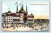 Ocean Park, CA - Early 1900s VIEW OF BEACH BATHERS & BATH HOUSE - POSTCARD - D3
