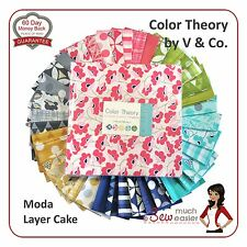 Color Theory by V & Co Moda Layer Cake Quilt Fabric Squares retro modern bright