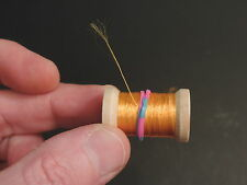1 Metallic Bittersweet Colored Spool of 1 Strand Floss for Fly Tying, 12 Yards