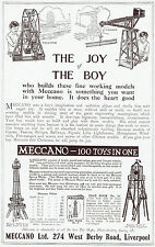 Meccano Eiffel Tower Maplin Lighthouse Models 1913 Advertisement Ad 9476