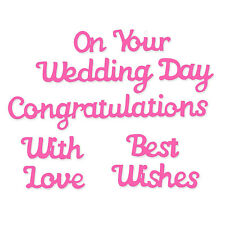 *NEW* Sweet Dixie Die On Your Wedding Day invitation cardmaking congratulations
