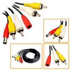Cámara de Seguridad Dvr 15m CCTV Cable Rca Audio Video Av Rca plomo de de la Fuente de alimentación