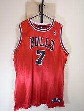 NBA Chicago Bulls Size 54 Men's Jersey Ben Gordon #7 Adidas Red Sewn Patches