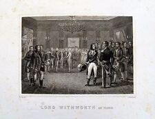 bi4-10 Gravure sur acier XIXe Lord Withworth aux tuileries