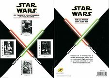 4 timbres star wars 2015 edition limitee neuf blister FRANCE Newstamps collector
