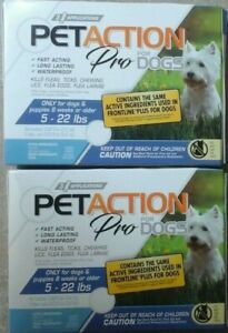 PetAction Plus For Dogs, 2 boxes 6 Doses  Small: 5-22 lbs
