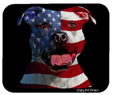 Dog Lovers Patriotic Pitbull High Quality Mouse Pad