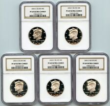 2003-S KENNEDY SILVER PROOF HALF DOLLAR NGC PF69 UCAM*LOT OF 5*90% SILVER*