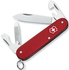 Victorinox Swiss Army 84 mm Cadet Multi-Tool Red Alox Handles Ribbed 53043 *NEW*