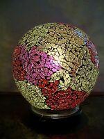 Lampe mosaïque boule multicolore
