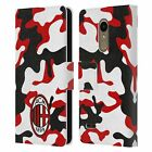 OFFICIAL AC MILAN CREST PATTERNS LEATHER BOOK WALLET CASE COVER FOR LG PHONES 1