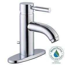 Glacier Bay Euro 4 in. Center Set 1-Handle Bathroom Faucet in Chrome