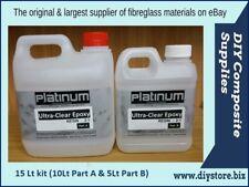 EPOXY RESIN Ultra CLEAR Casting 2:1 15 Ltr. kit UV (Platinum)