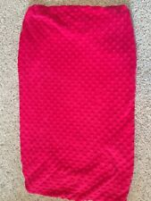 Baby Girl Changing Pad Cover Hot Pink Minky Dot