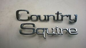"""1971 Ford """"Country Squire """" Emblem"""