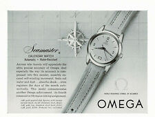 1950s Original Vintage Omega Seamaster Calendar Watch Photo Print Ad
