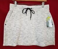 Tek Gear Athletic Skirt Women's size M Mid Thigh Stretch Cotton White NWT $30