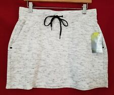 Tek Gear Athletic Skirt Women's size M Mid Thigh Stretch Cotton White NWT $30