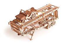 Wood Trick Car Trailer For BigRig Mechanical Wooden 3D Puzzle Model Assembly Kit