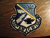 USAF Jacket Patch - United States Air Force 552nd AWAC Wing Military Shirt Badge