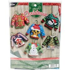 Bucilla Ugly Sweater Ornaments Felt Applique Kit - 432488