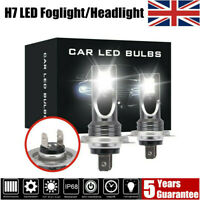 2x H7 LED Headlight CREE 200W Fog Lights Car Bulb Kit 6000k HID Decoder Canbus