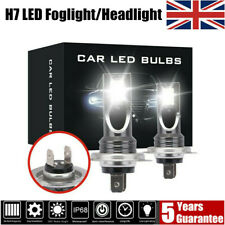2x H7 LED Headlight CREE 200W Car Fog Lights Bulb Kit 6000k HID Decoder Canbus