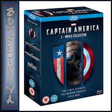 CAPTAIN AMERICA 1 2 & 3 - 3 MOVIE COLLECTION BOXSET **BRAND NEW BLURAY**