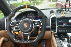 Carbon fiber Steering Wheel For Porsche Mancan Cayenne Panamera(No Center Trims)