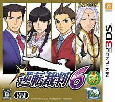 Ace Attorney Gyakuten Saiban 6 Nintendo 3DS 4976219076203 Video Game Japan New