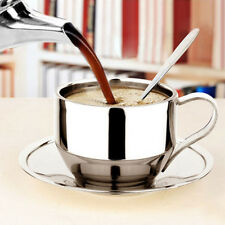 New Stainless Steel Double Wall Coffee Cup Thermal Espresso Cappuccino Cup T