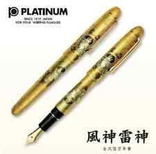 Platinum Kanazawa leaf Fountain Pen Fujin Raijin Fnib makie japan