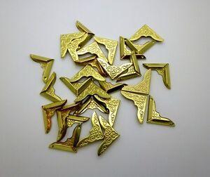 20 Pretty Patterned Gold Book Photo Album Folder Box Scrapbooks Corner Protector